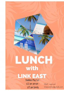 LINK EAST MAY 3 LUNCH